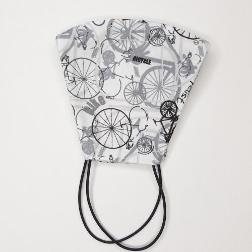 Maseczka ochronna profilowana dzianinowa – nadruk rowery