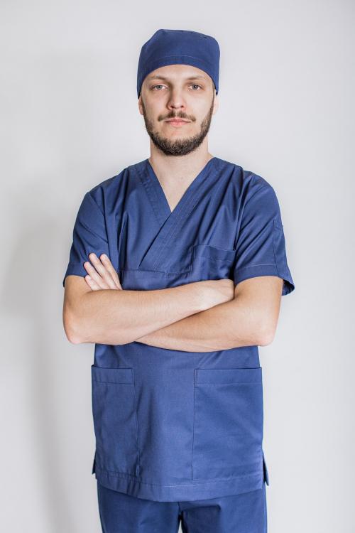 Komplet odzieży- Zestaw odzieży medycznej chirurgicznej męskiej